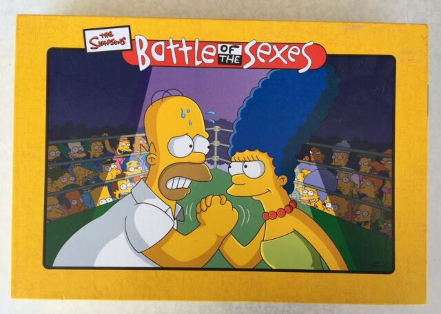 The Simpsons - Battle of the Sexes Board Game 2004 Complete
