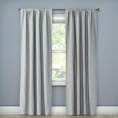 """PROJECT 622pk Henna Blackout Curtain PanelMasonry Gray50/"""" x 84/""""OB"""