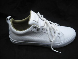 913244e6fae9 Converse All Star white mens leather tennis shoes sz 11M womens ...
