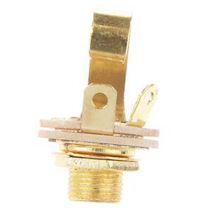 6-35-mm-Gold-Guitar-Output-jack-femelle-pour-Guitare-Electrique-Bass-parts