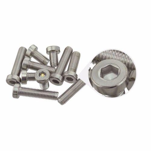 Pack of 10 M4 12mm Low Head Cap Metric Hex Socket Screw Bolt Stainless Steel