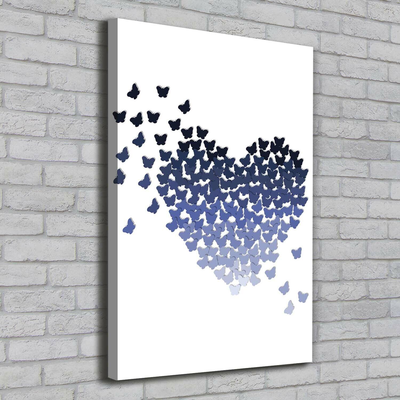 Leinwand-Bild Kunstdruck Hochformat 70x100 Bilder Schmetterlinge Herz