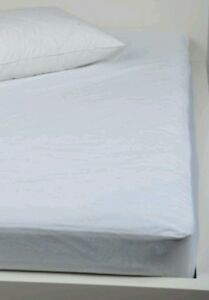Plastic Mattress Cover For Bed Wetting ... WATERPROOF-MATTRESS-PROTECTOR-COVER-FITTED-VINYL-MATRESS-White-Wetting