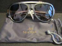 Jm York Reading Sun Glasses +3.00 Gray Gold Aviator Bifocal Joy Mangano