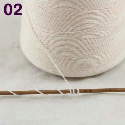 Cono de 100g 100/% Cachemir Mano Hilo Tejer Crochet Envoltura Bufanda Chal Crema 02