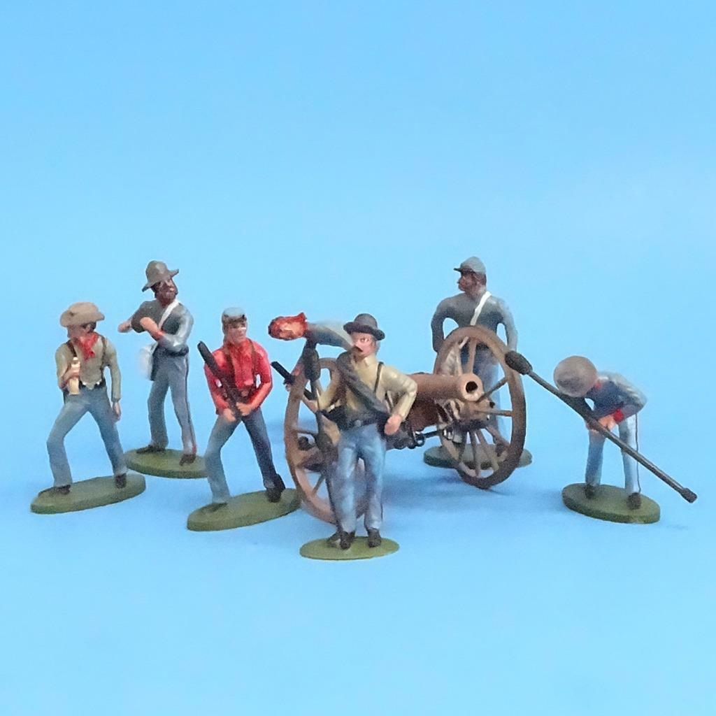 CORD-3039 - Confederate Artillery Crew (7 Figures) and Gun (Unknown Manufacturer