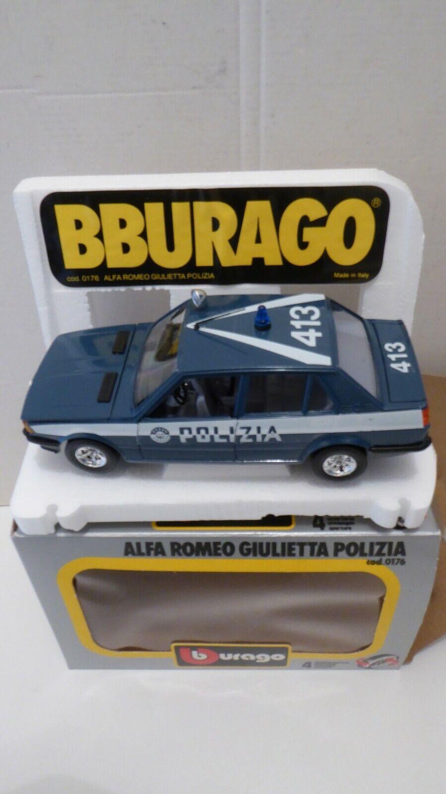 RARE 1 24 Burago Bburago ALFA ROMEO GIULIETTA POLIZIA COD. 0176 TOP ++++