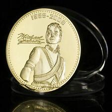 Michael Jackson Goldmünze 24 Karat 999 Gold vergoldet Gedenkmünze für MJ Fans179