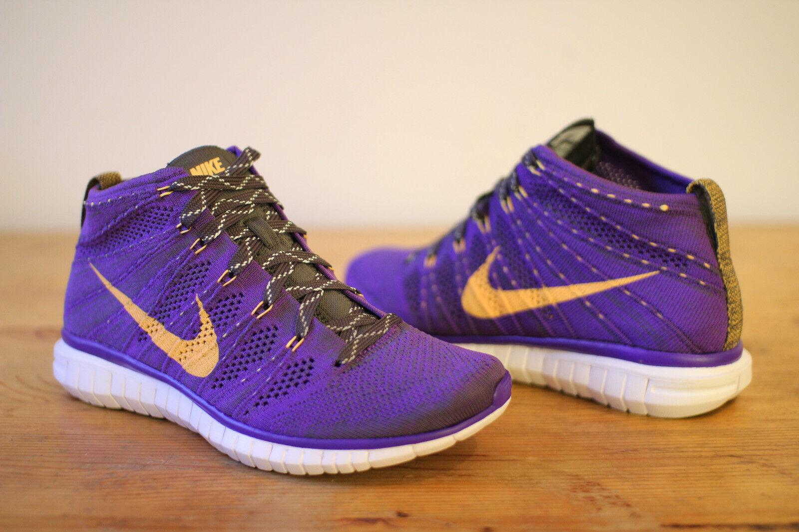 Nike Free Flyknit Chukka violet taille 40 NOUVEAU & OVP