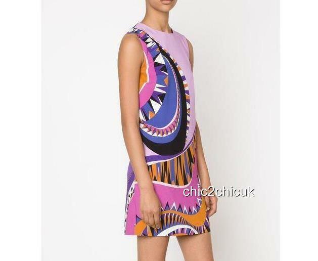 EMILIO PUCCI Print Dress UK8 -10 IT40 US6 Ny RRP990GBP