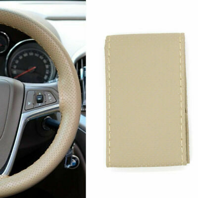 Car Auto Steering Wheel Cover DIY Leather Wrap With Needles And Thread BLACK UK