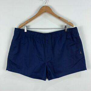 King-Gee-Mens-Shorts-3XL-Blue-Elastic-Waist-Pockets