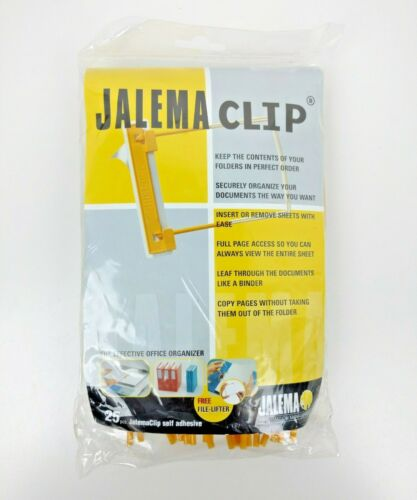 Jalema Clip 25 Count Yellow Jalemaclip Binder Information Management S88811