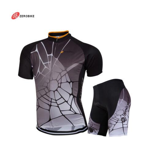 Men Cycling Jersey  Bike Clothing Half Sleeve Cycling Shorts Set 4 Size M-2XL