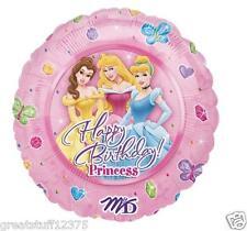 "18"" Disney Princess Happy Birthday message on Mylar Balloon USA SELLER"