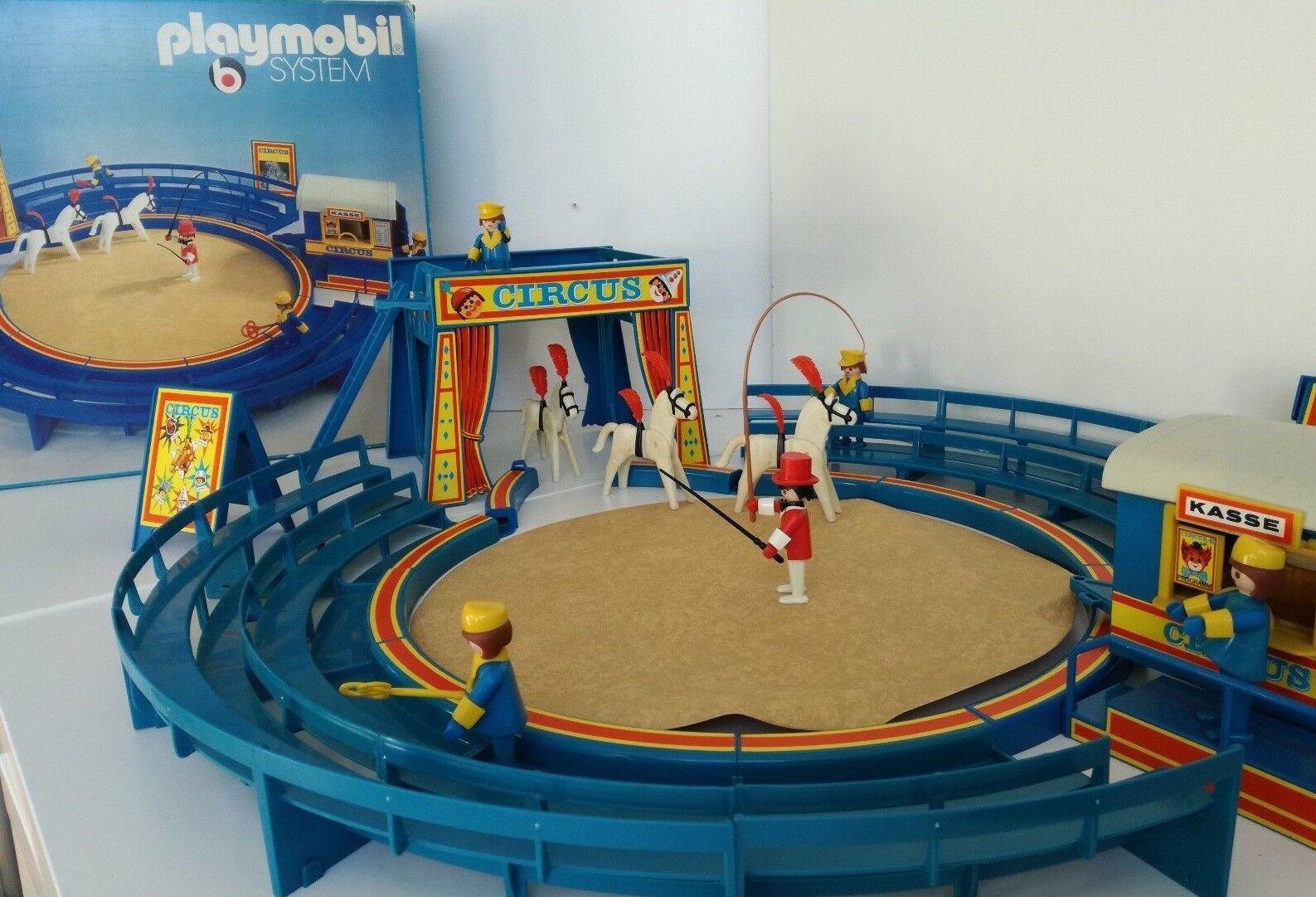 Playmobil 3510 - Blau Circus   Zirkus-Manege in original Box   OVP