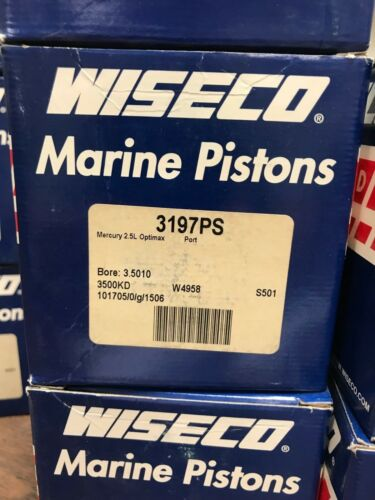 WISECO PISTON ASSY STD 3197PS  PORT MERCURY SEE LISTING FOR ALL APPLICATIONS
