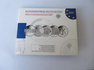 ALLEMAGNE - GERMANY - DEUTSCHLAND  Coffret  2007  5 x 10 Euro BE