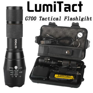 20000lm-Genuine-Lumitact-G700-Tactical-Flashlight-Military-Grade-Torch-battery
