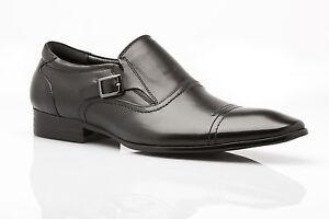 NEW-MENS-ZASEL-DRESS-BLACK-LEATHER-SLIP-ON-BUCKLE-DRESS-FORMAL-CASUAL-WORK-SHOES