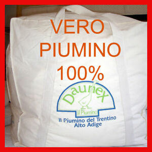 size 40 9f29a 395c4 Dettagli su TIROLO PIUMINO D'OCA 100% DOPPIO 4 STAGIONI LETTO MATRIMONIALE  200x250