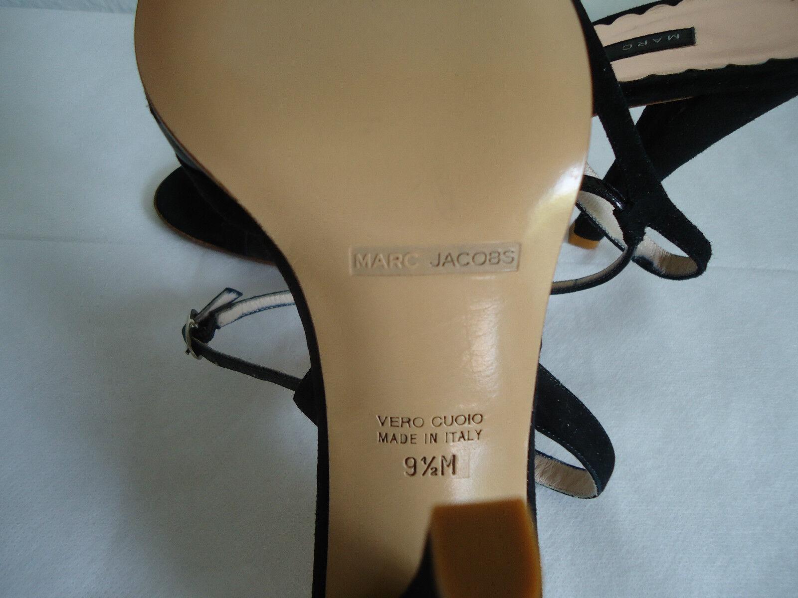 Nuevo Negro Gamuza Marc Jacobs Jacobs Jacobs con Tiras Noche Tacones Zapatos Talla 9.5 bac462