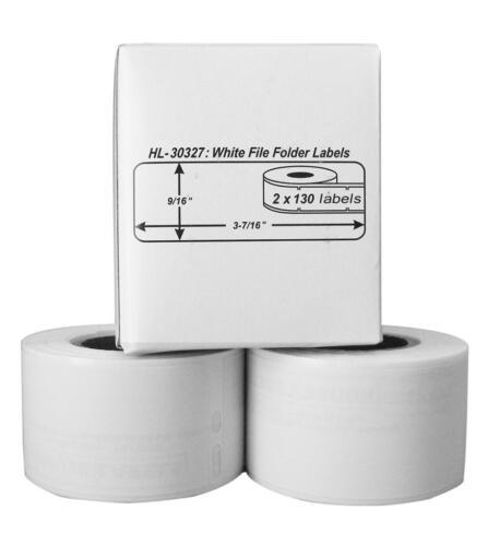 56 Rolls of 130 File Folder Labels for DYMO® LabelWriter® 30327 30576