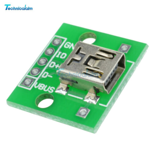 2//5//10Pcs Mini USB to DIP 2.54mm Adapter Converter Power Supply for PCB Board