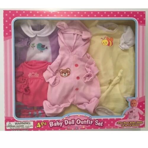 Baby Doll 4 Pc Outfit Set Clothes For Baby Alive Dolls Christmas Gift