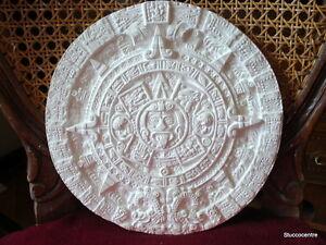 Stucco-Maya-Teller-101-274-Medallion-aus-Gips-Motivplatte-Medaillon-Sonne