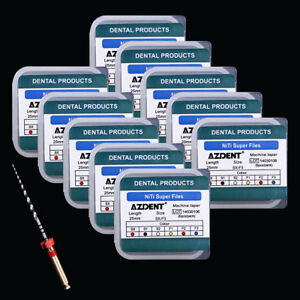 10 Boxes Dental Endodontic NiTi Engine Use Super Rotary File SX-F3 25mm