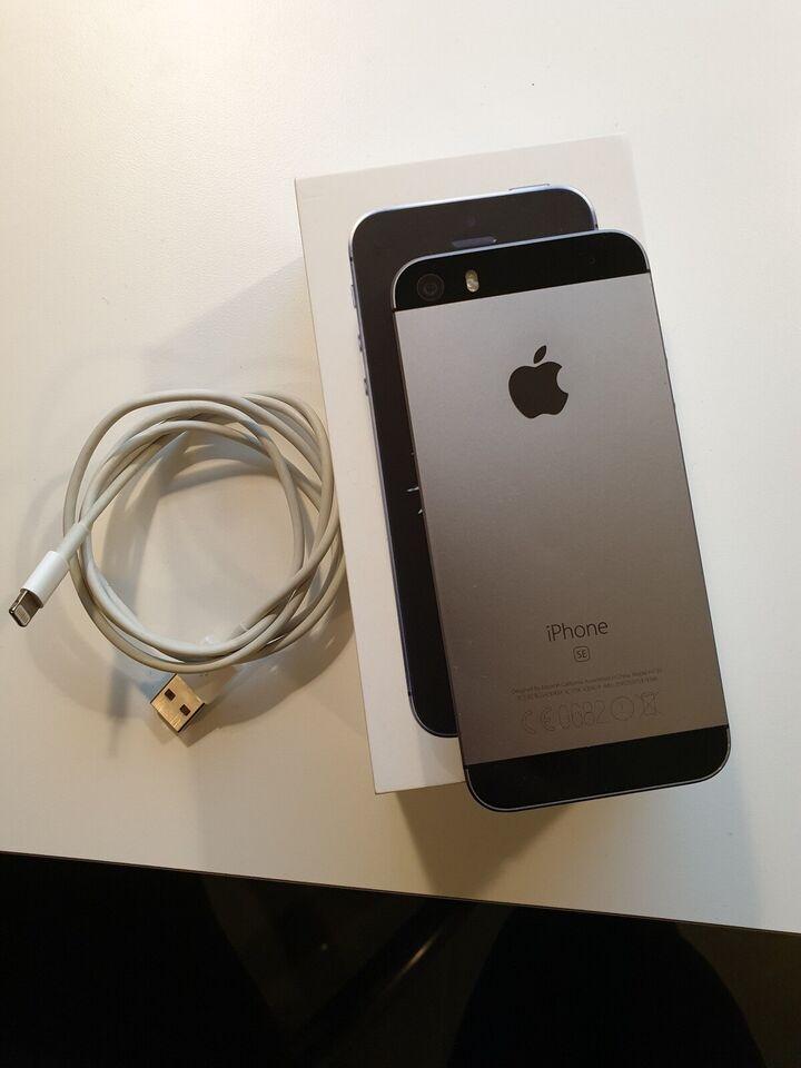iPhone SE, 16 GB, sort