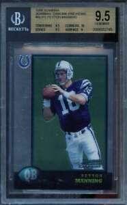Peyton-Manning-Rookie-1998-Bowman-Chrome-Previews-bcp1-BGS-9-5-9-5-10-9-5-9