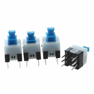 55-pzs-6-pines-DPDT-Interruptor-de-boton-pulsador-mini-de-potencia-autoblocante