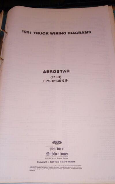 1991 Ford Aerostar Truck Wiring Diagrams