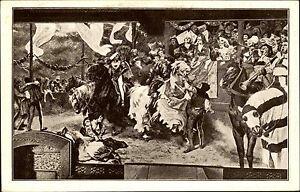 Schloss-BURG-Wupper-AK-um-1920-Wandgemaelde-Kemenate-Janssen-alte-Postkarte