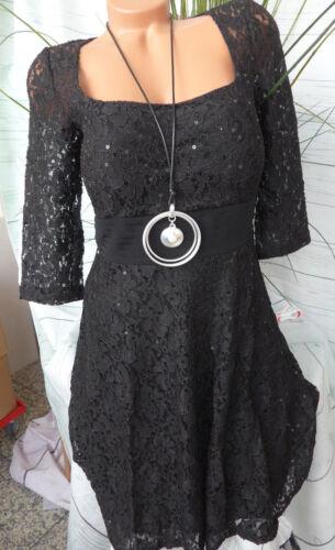 Ashley Brooke Kleid Cocktailkleid Gr 36-44 schwarz mit Spitze NEU 555