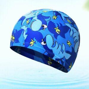 Waterproof Caps Children Elastic Cartoon Printed Swimming Sports Pool Swim Hats Ebay