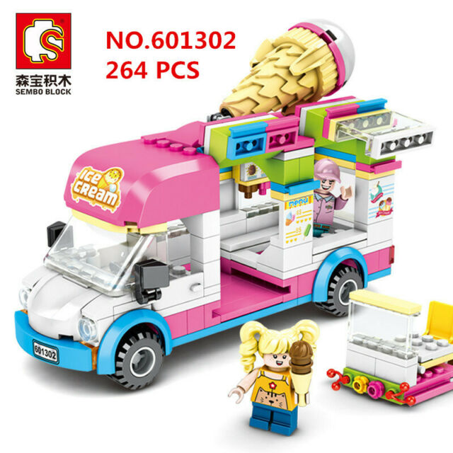 Girls Building Blocks Toys 553 Pieces Ice Cream Truck Set Toys for Girls 25 Mod