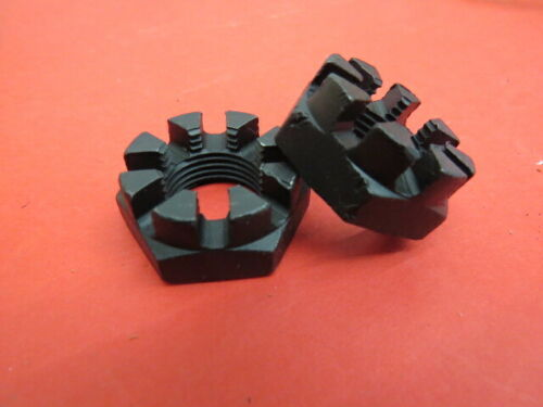 1936-48 Ford replated original front hub nuts PAIR S-2 finish 351129-S     H-4-5
