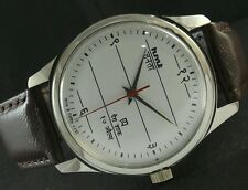 HMT JANATA SEMI (HALF) HINDI NUMBERS HAND WINDING VINTAGE WATCH~WHITE dial-