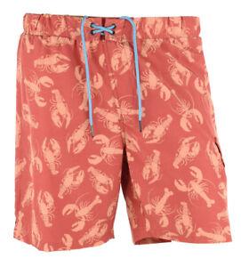 M Tommy Hilfiger Men/'s Lobster-Print Swim Trunks Size