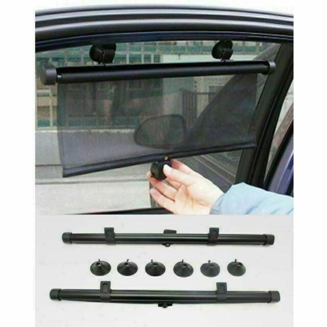 New Clippasafe Child Safety 2 Pack Universal Car Window Roller Blind Sun Shades