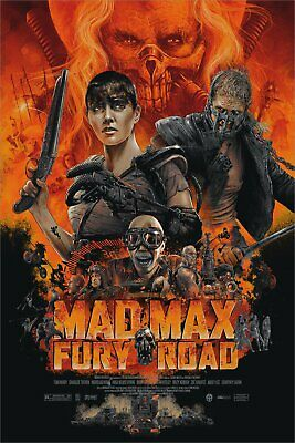 "Wondercon Mad Max Fury Road by Vance Kelly 24/"" x 36/"" #//350"