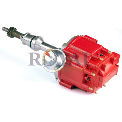 Red Cap Distributor SBF For Ford Sm Block 260 289 302 HEI Ignition w// 65K Coil