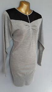 New-BASTYAN-Scott-Grey-Knit-Dress-BNWT-Fine-Knit-Merino-Wool-Medium-amp-XL