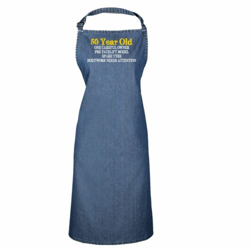 50 Year Old Birthday Car Person Funny Joke  Adult Kitchen Cooking PREMIER APRON