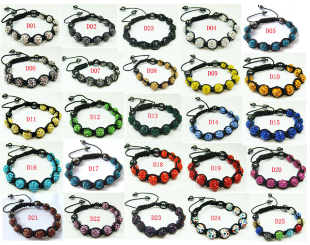 NEW Free shipping Zircon Clay charm Beads fashion Bracelet A11