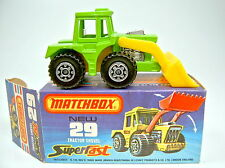 "Matchbox SF Nr. 29C Tractor Shovel gelbgrün ""1000 PS"" Set top in Box"