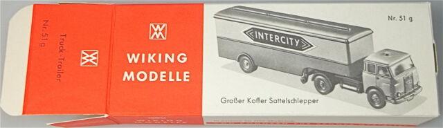 51g INTERCITY Großer Koffer Sattelschlepper Wiking Karton leer     å  *